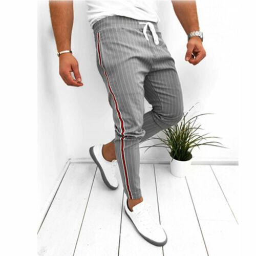Fashion Men/'s Slim Fit Casual Sport Pants Joggers Long Trousers Sweatpants