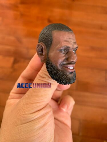 "1//6 LeBron James Head Sculpt NBA pour 12/"" Enterbay Hot Toys PHICEN TBL Figure USA"