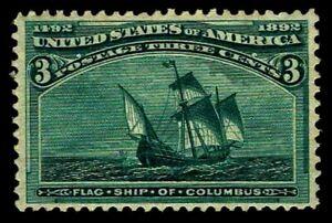 US-232-03c-Columbian-Issue-of-1893-OGH-VF-CV-37-50-ESP-0882