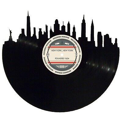 New York City Skyline Vinyl Record Art
