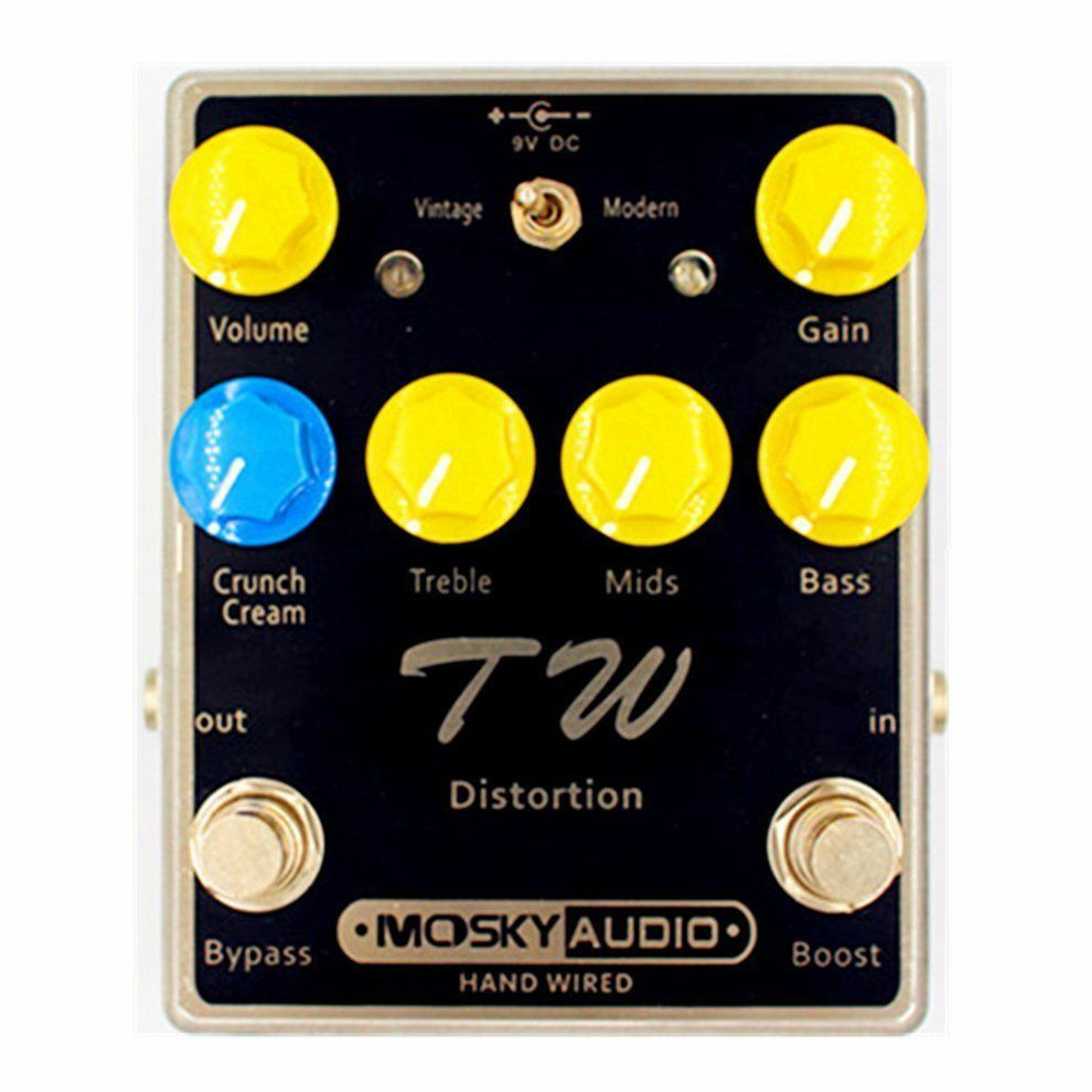 Mosky Audio TW Distortion 2 Toggle Modes with Boost Option Hand Wirot New