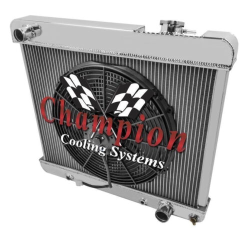 "1965 1966 Oldsmobile Cutlass 3 Row Aluminum DR Champion 1 x 16/"" Fan Combo"
