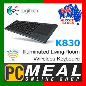 Image Is Loading Logitech K830 Illuminated Living Room Keyboard Wireless Backlit