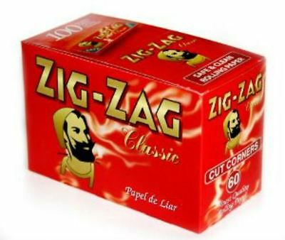Zig Zag Rolling Papers Standard Red Box Of  100