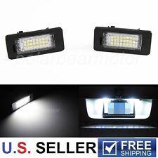 2X NO Error Canbus BMW X1 X3 X5 X6 SUV 24-SMD LED LICENSE PLATE LIGHT KIT WHITE