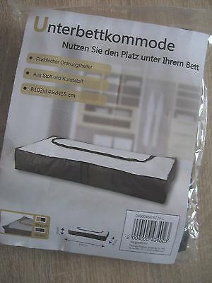 Boxen Möbel & Wohnen Nett Unterbettkommode Schwarz/grau 103 X 45 X 15cm 100% Hochwertige Materialien
