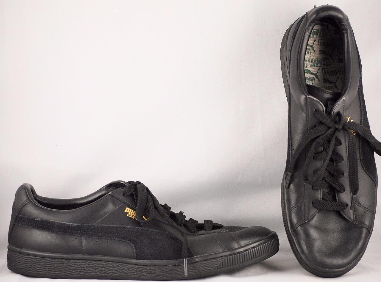 Men's Puma Basket US Black Synthetic Leather/Suede Sneakers US Basket 13 67c065