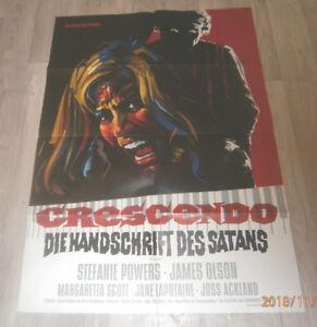 A1-Filmplakat  GRESCENDO DIE HANDSCHRIFT DES SATAN,STEFFANIE POWERS,JAMES OLSON