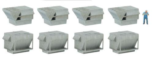 Spur H0 Bausatz Industrie Klimaanlagen 4077 NEU