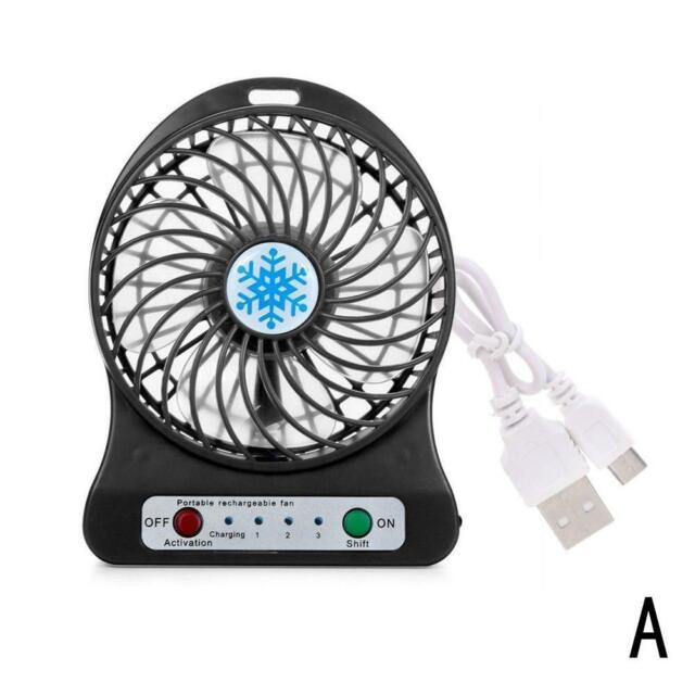 Rechargeable Fan Air Cooler Mini Operated Hand Held USB18650 No Batter Kq