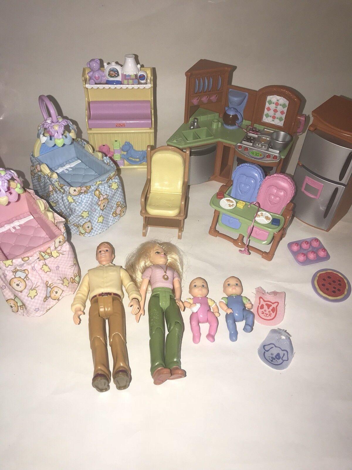 Liebende Familie Puppenhaus Doppel Zeit Babies Küche Kindergarten Premium Dekor