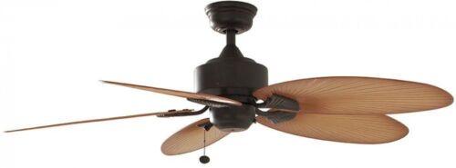 52 in Indoor Outdoor Ceiling Fan Aged Bronze Tropical 3-Speed Reversible Motor