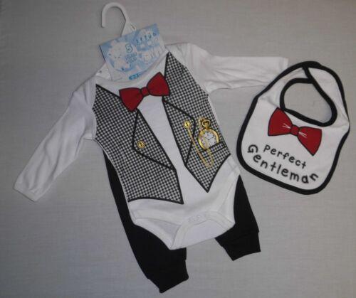NEU Baby Jungen Body Hose Mütze Mütze Lätzchen Set Gr.56 62 68 74 Englandmode