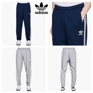 AdidasJoggers-Mens-Sweatpants-Originals-Trefoil-3-Stripe-Fleece-Bottoms-Trouser