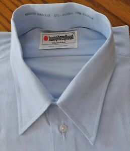 Vintage-1960s-para-Hombre-Camisa-Sin-Usar-Regencia-Baccarat-disidente-Collar-tamano-17-5