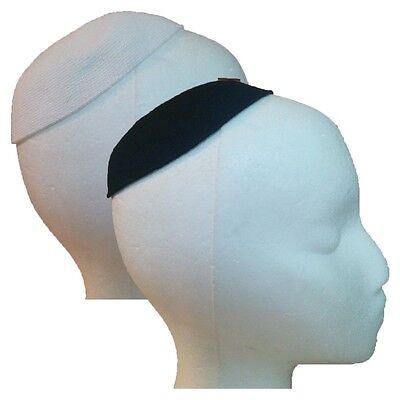 All Sizes DMC Black /& White Kippah Yarmulke Jewish Judaica Cap 100/% Cotton Jew