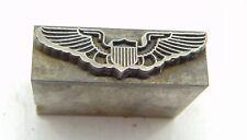 Vintage Letterpress Printing Printers Block All Lead Wings Amp Shield