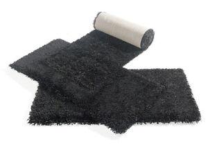 shaggy langflor teppich 642 schwarz bettumrandung teppich janning ebay. Black Bedroom Furniture Sets. Home Design Ideas