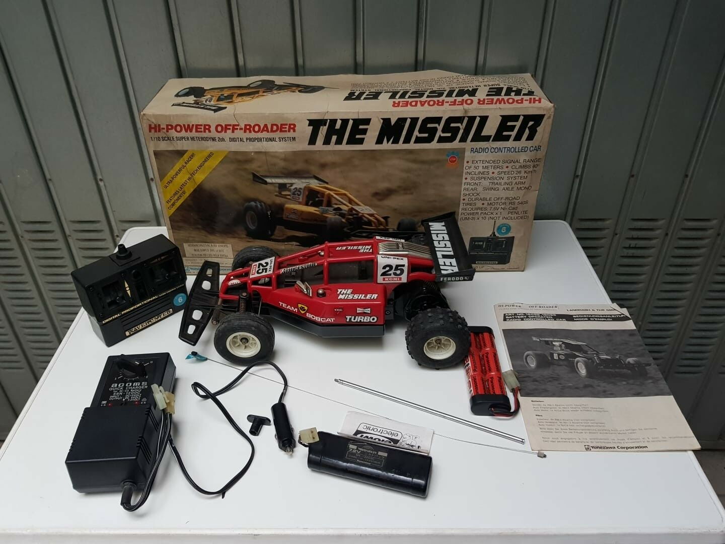 THE MISSILER NIKKO YONEZAWA 1985 RADIO CONTROLL TOYS VINTAGE HI POWER OFF ROADER