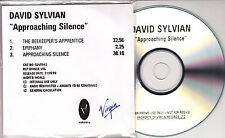 DAVID SYLVIAN Approaching Silence 1999 UK 3-track promo test CD