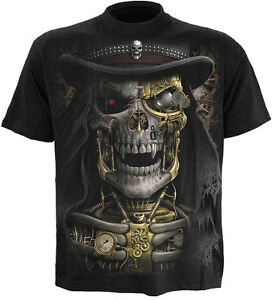 SPIRAL-DIRECT-STEAM-PUNK-REAPER-T-Shirt-Top-Tee-Biker-Grim-Reaper-Skull-Goth