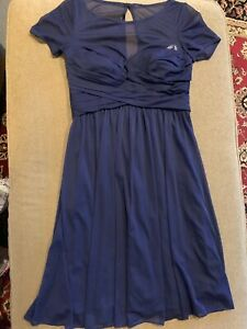 Davids-Bridal-Women-039-s-Size-6-Bridesmaid-Dress-Navy-Blue-Cocktail-Evening-CT