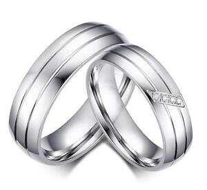 Men/'s Women/'s Love Wedding Ring Polished Stainless Steel Band 6mm Sizes 5-13