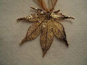 034-GENUINE-GOLD-JAPANESE-MAPLE-LEAF-ORNAMENT-034-NEW-PERFECT-GIFT