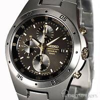 Seiko Sport Multi Function Chronograph Titanium Bracelet Snd451p1 Snd451