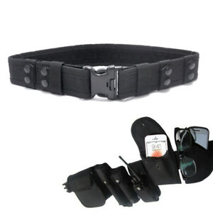2-2-034-Security-Safety-Police-SWAT-Tactical-Combat-Utility-Nylon-Duty-Belt-Black