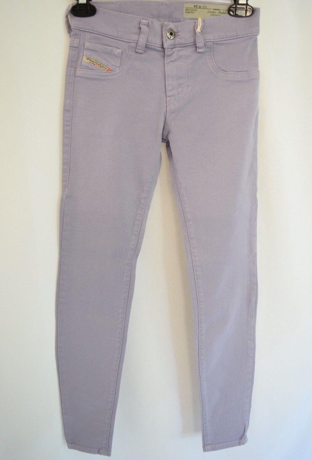 DIESEL LIVIER ANKLE  SUPER SLIM JEGGING Jeans Woman SZ 24 in PURPLE
