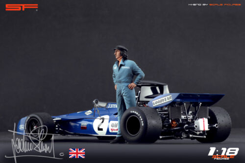 1:18 Jackie Stewart figurine VERY RARE !! NO CARS ! for diecast by SF