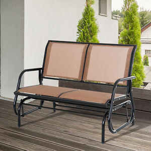 Image Is Loading Outdoor Patio Glider Double Swing Chair Garden 2