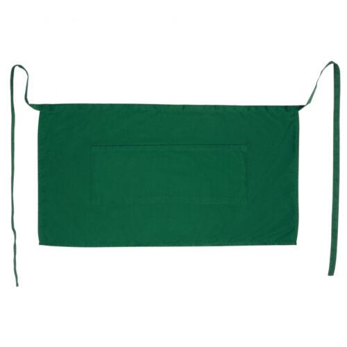 100 x Half 1//2 Size Bar Apron Pockets 100/% Cotton Bistro Waiter £1.24 per apron!