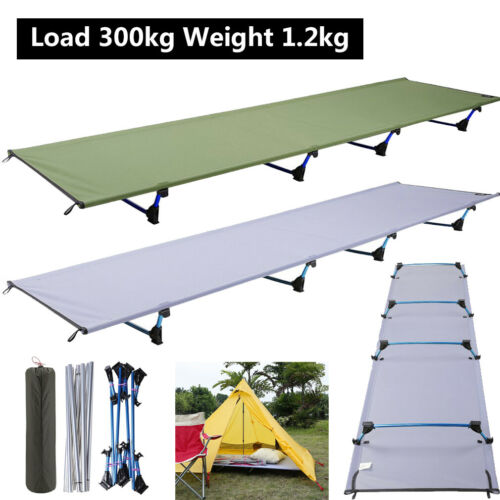 Heavy Duty Portable Single Folding Bed with Mattress Camping Camp Travel Guest