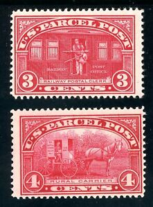 USAstamps-Unused-FVF-US-1913-Parcel-Post-Scott-Q3-Q4-OG-MHR