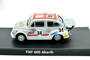 Model-Car-Fiat-600-Abarth-Scale-1-43-Diecast-Modellcar-Static-Age-Rally