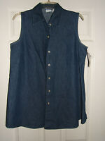 Womans In Due Time Maternity Jean Short Sleeve Shirt Size M (new)