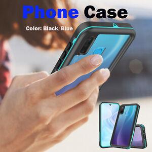 Wasserdichte-Telefon-Schutzhuelle-Stossfest-Rueckseite-Schale-fuer-Huawei-P30-Lite