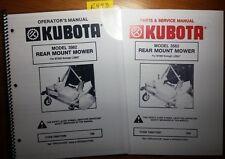 Kubota 3562 Rear Mount Mower For B7200 L2850 Operator Parts Amp Service Manual