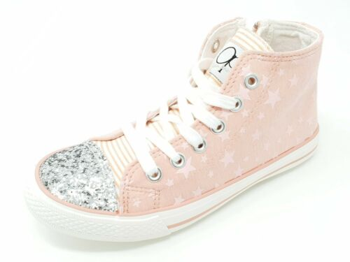 Childrens Kids Girls Ocean Pacific Blue High Top Trainers Sneakers Size 11.5-3