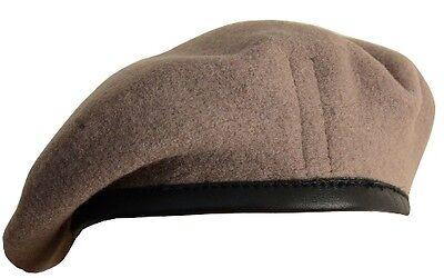 3aa55f28 100% Wool BRITISH BERET - All Sizes SAS KHAKI High Quality Military Army  Cap New   eBay