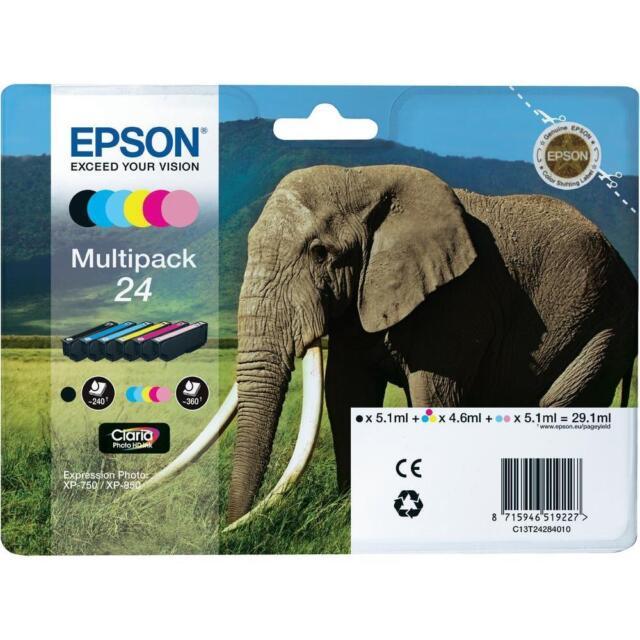 Epson 24 -T2428 Multi Pack Original Ink Cartridges ( Set of 6 ) B,C,M,Y,LC & LM