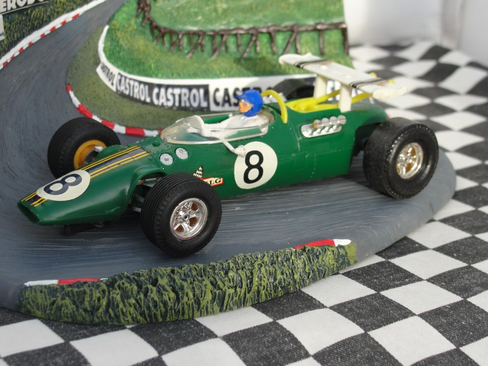 SCALEXTRIC 1960'S LOTUS INDIANAPOLIS GREEN    C8    1 32 SLOT USED UNBOXED