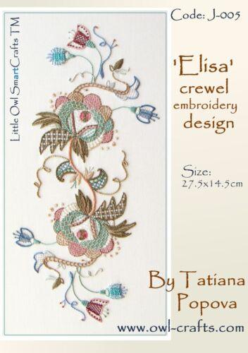 Patrón para bordar bordado mochuelo Pack-Elisa-Tela Impresa