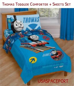Image Is Loading THOMAS Train Toddler Bed In A Bag COMFORTER