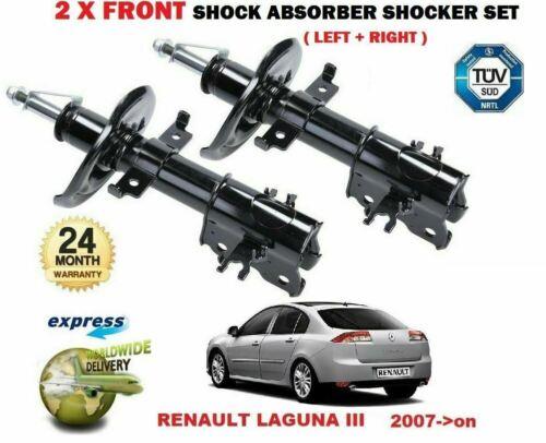 FOR RENAULT LAGUNA HATCHBACK 1.6 2.0 1.5 3.0 2007-/> 2X FRONT SHOCK ABSORBERS SET