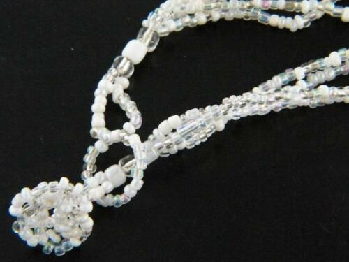 4 STRAND CRYSTAL HOWLITE MIX SEED BEADS necklace