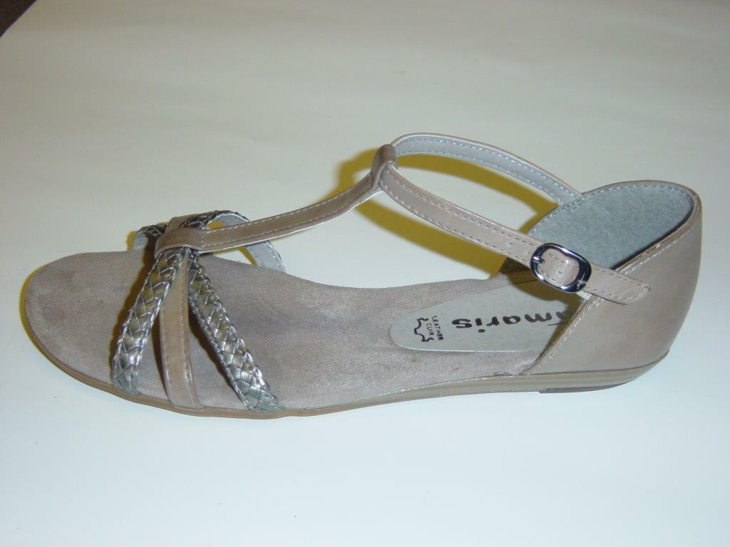 Tamaris Sandals   Stone (Grey Silver)   Leather   Size 39 41 (Sandals)