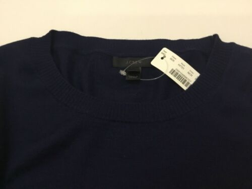 L J.Crew Merino Wool Crewneck Sweater With Ruffle Sleeves NWT Size S M